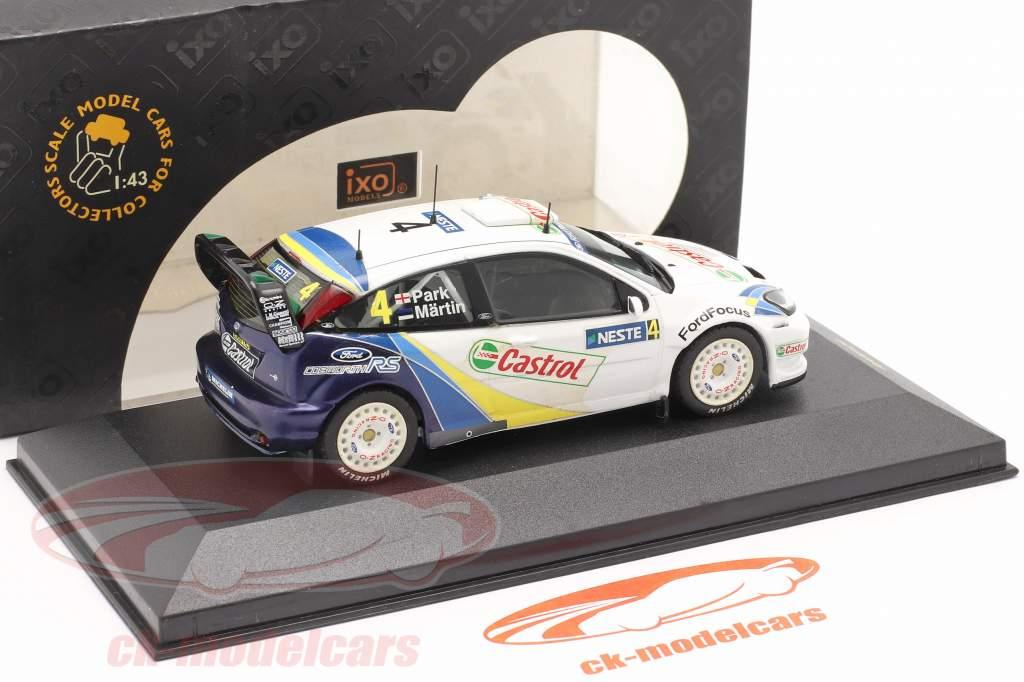 Ford Focus RS WRC EVO3 #4 gagnant Finlande se rallier 2003 Martin, Park 1:43 Ixo