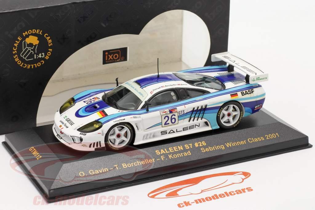 Saleen S7 #26 Sebring Sieger Class 2001 Gavin, Borcheller, Konrad 1:43 Ixo