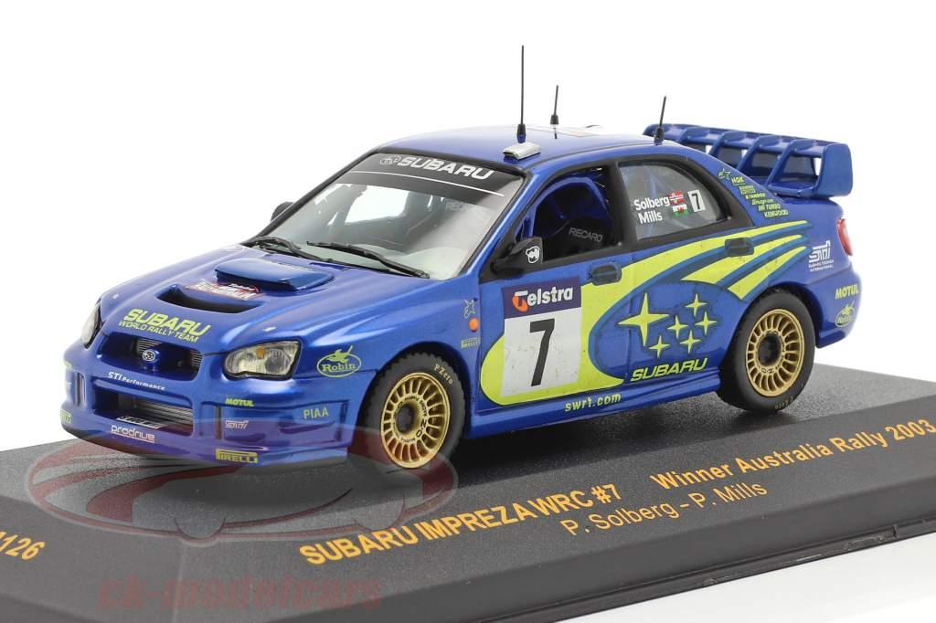 Subaru Impreza WRC #7 vinder Australien samle 2003 Solberg, Mills 1:43 Ixo