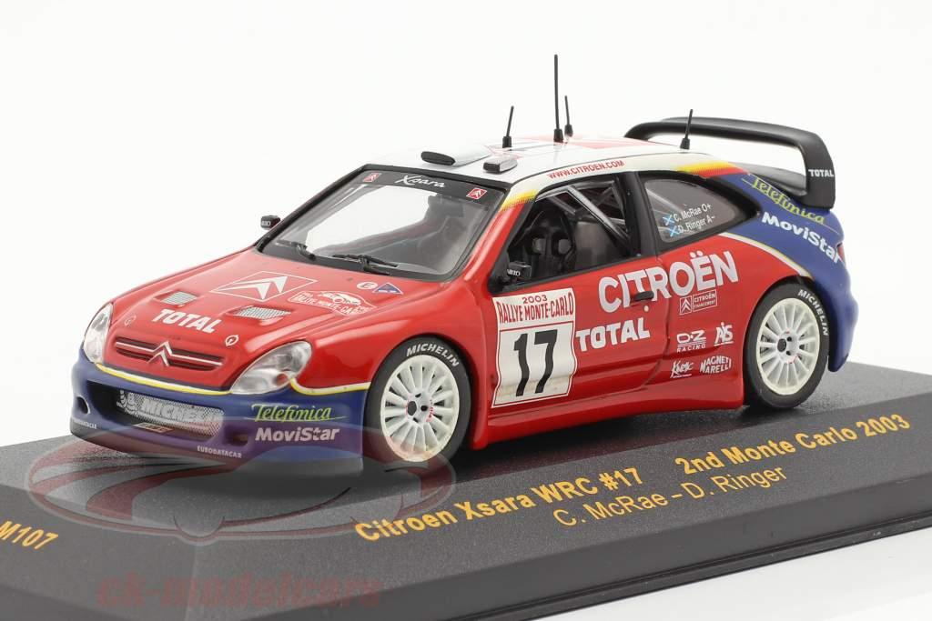 Citroen Xsara WRC #17 samle Monte Carlo 2003 McRae, Ringer 1:43 Ixo