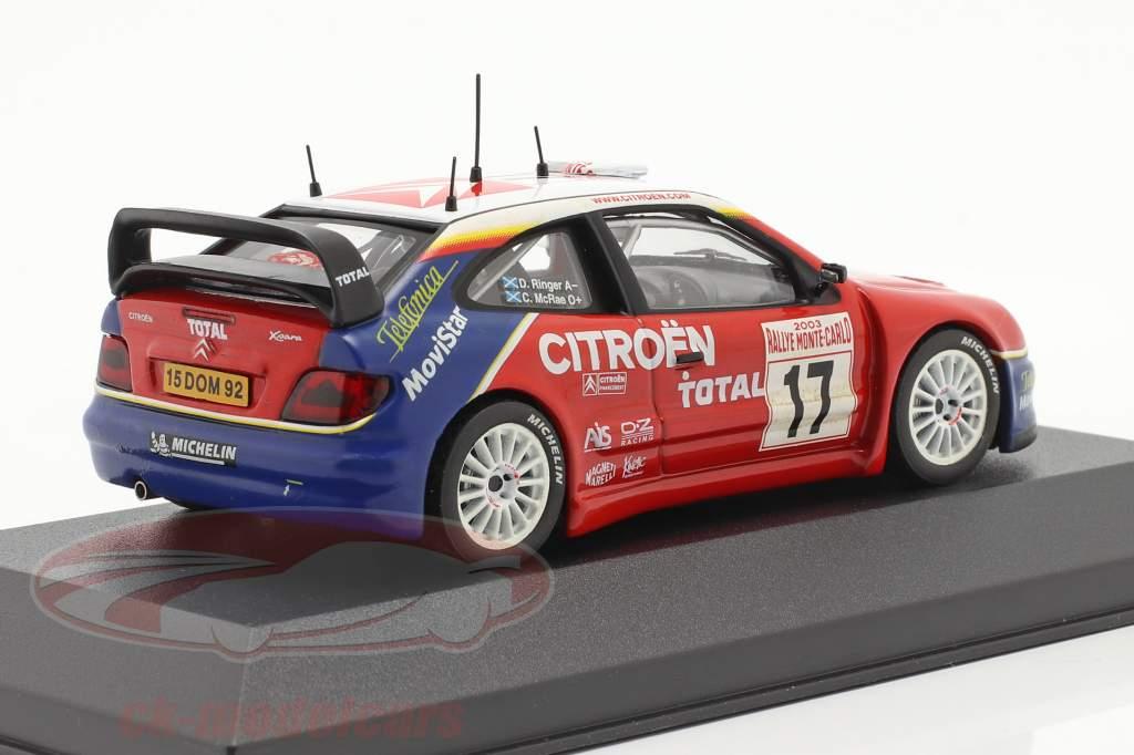 Citroen Xsara WRC #17 Rallye Monte Carlo 2003 McRae, Ringer 1:43 Ixo