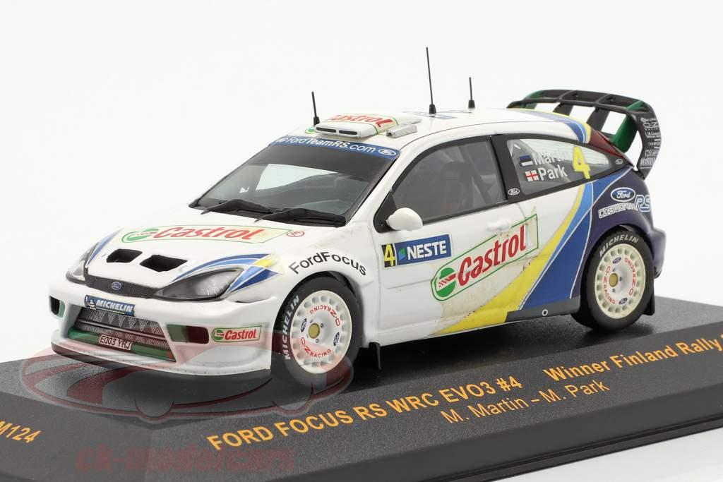 Ford Focus RS WRC EVO3 #4 winnaar Finland rally 2003 Martin, Park 1:43 Ixo