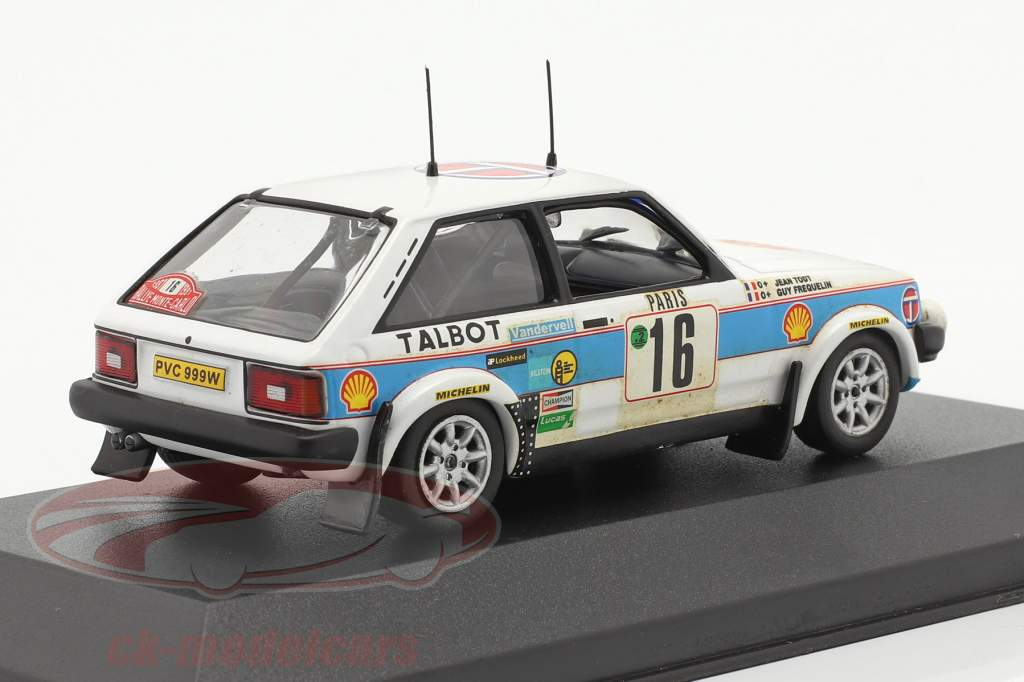 Talbot Lotus Sunbeam #16 samle Monte Carlo 1981 Frequelin, Todt 1:43 Ixo
