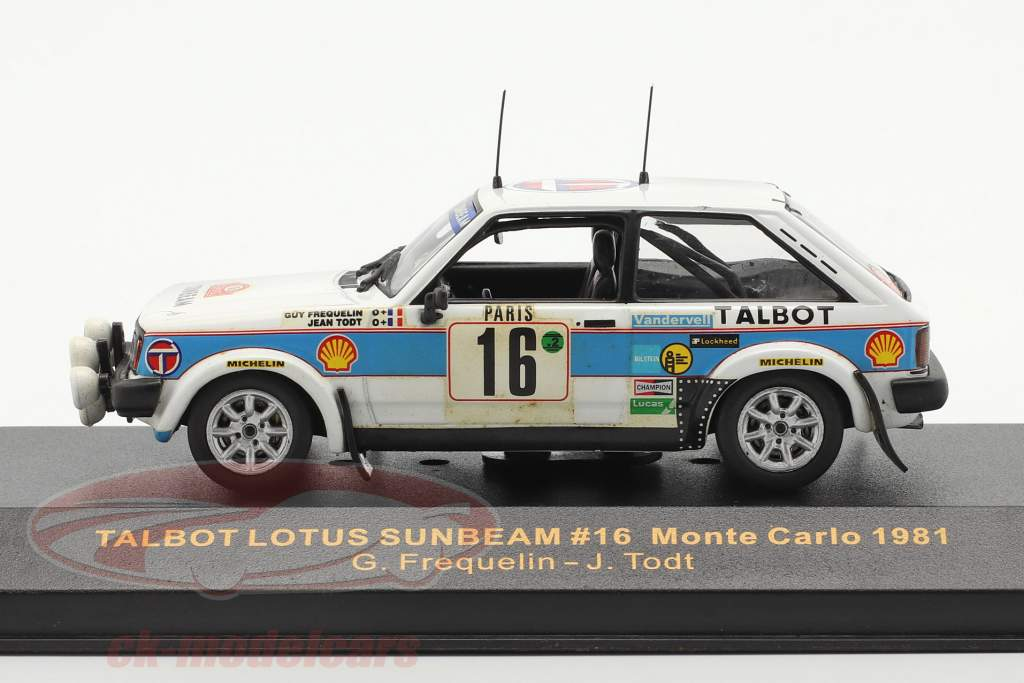Talbot Lotus Sunbeam #16 Rallye Monte Carlo 1981 Frequelin, Todt 1:43 Ixo