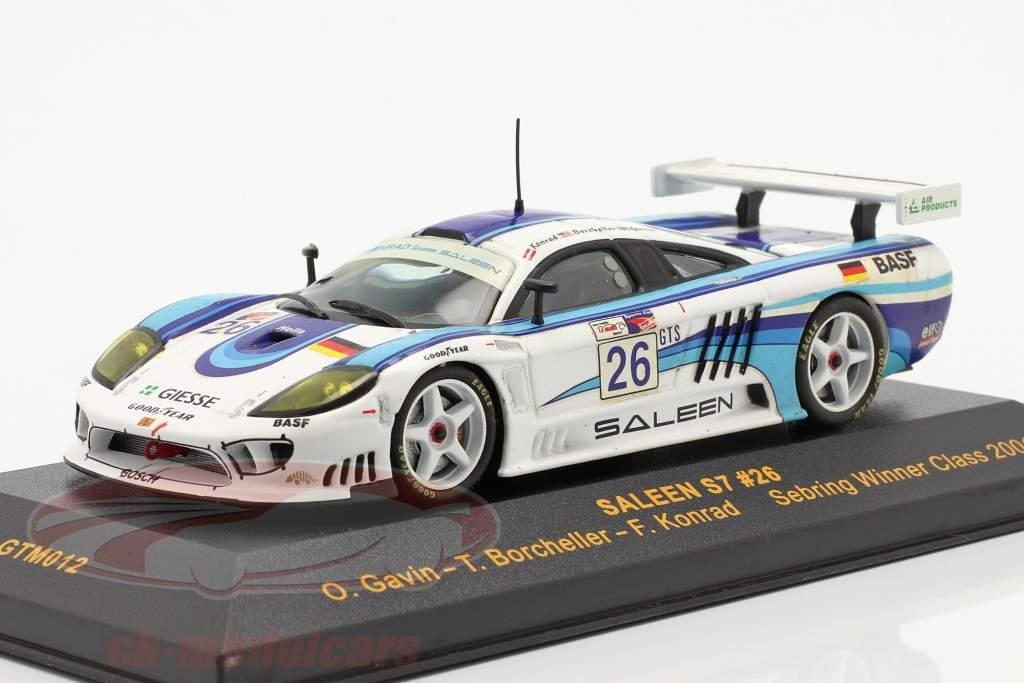 Saleen S7 #26 Sebring ganador Class 2001 Gavin, Borcheller, Konrad 1:43 Ixo