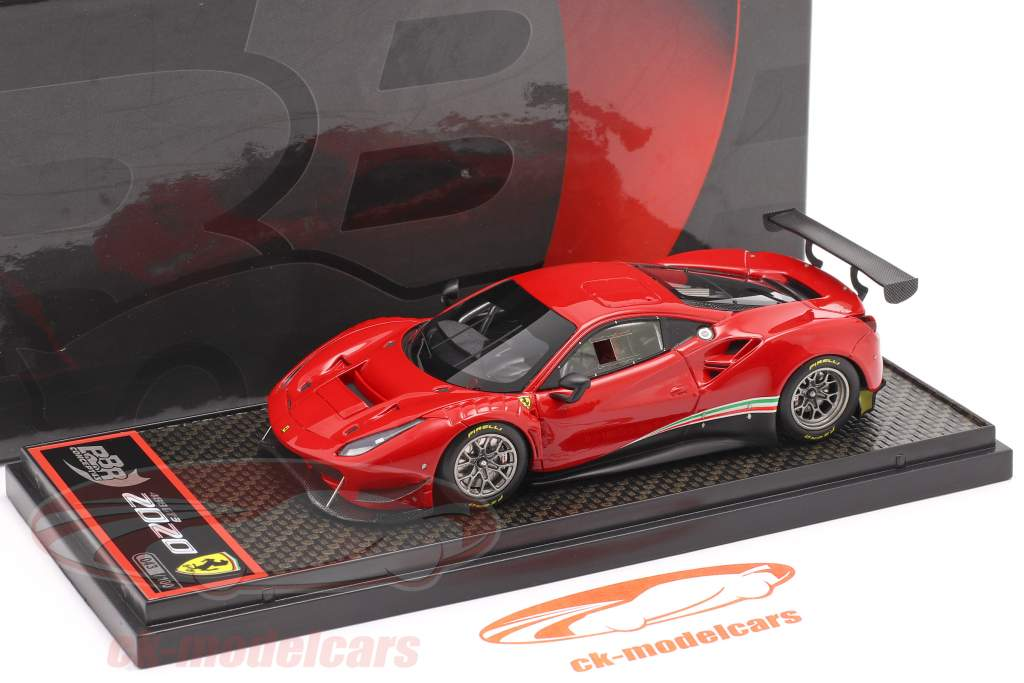 Ferrari 488 GT3 Année de construction 2020 corsa rouge 1:43 BBR