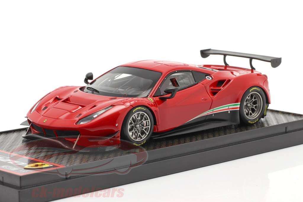 Ferrari 488 GT3 Bouwjaar 2020 corsa rood 1:43 BBR