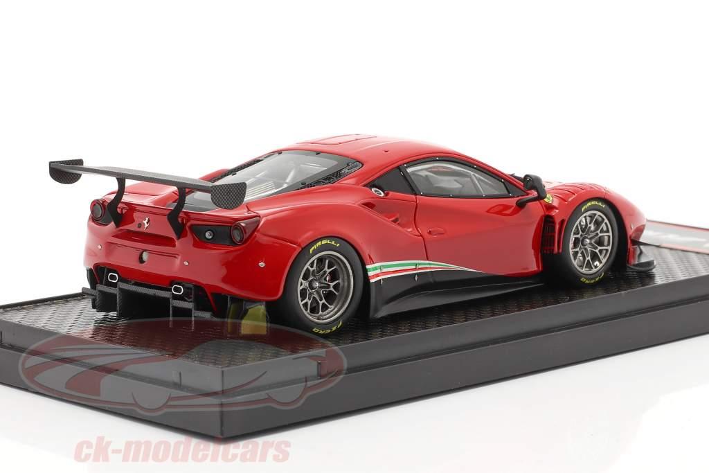 Ferrari 488 GT3 Byggeår 2020 corsa rød 1:43 BBR