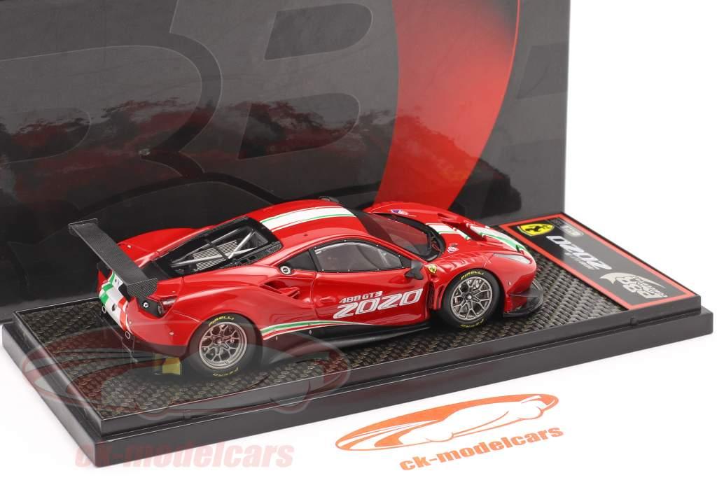 Ferrari 488 GT3 EVO year 2020 red / white / green 1:43 BBR