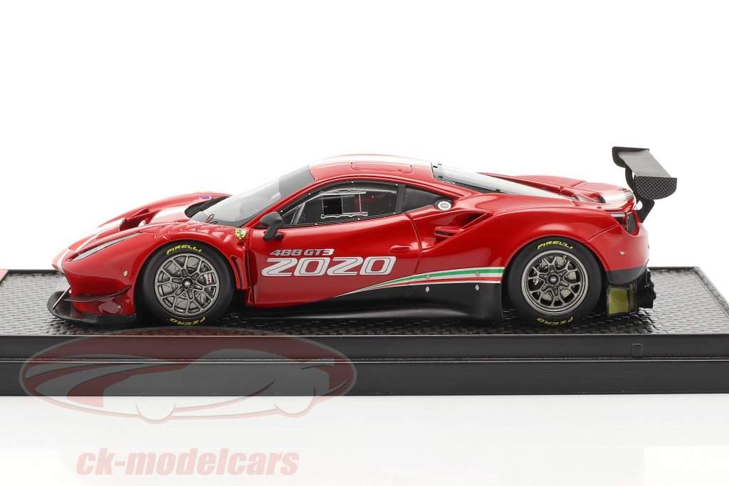 Ferrari 488 GT3 EVO Baujahr 2020 rot / weiß / grün 1:43 BBR
