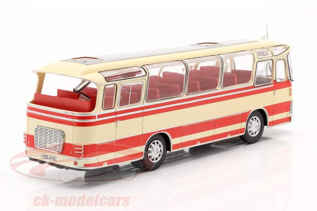 Neoplan NH 9L bus jaar 1964 beige / rood 1:43 Ixo / 2e keuze