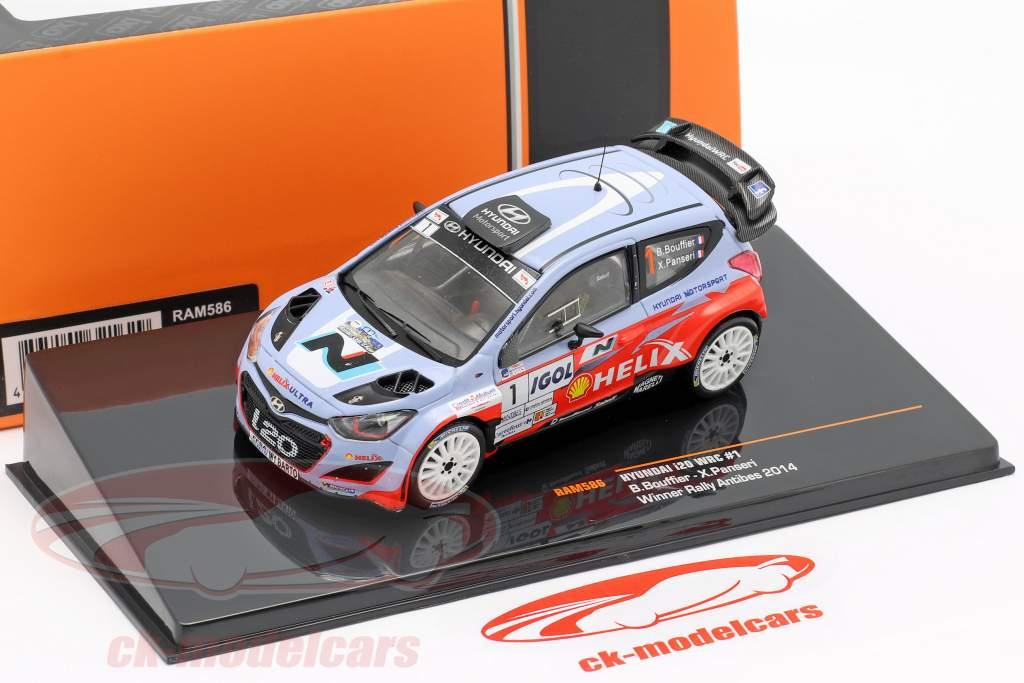 Hyundai i20 WRC #1 Vinder samle Antibes 2014 Bouffier, Panseri 1:43 Ixo / 2. valg
