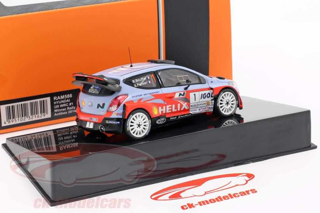 Hyundai i20 WRC #1 Vencedora corrida Antibes 2014 Bouffier, Panseri 1:43 Ixo / 2 escolha