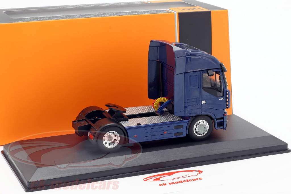 Iveco Stralis Tractor eenheid jaar 2012 blauw metalen 1:43 Ixo / 2e keuze