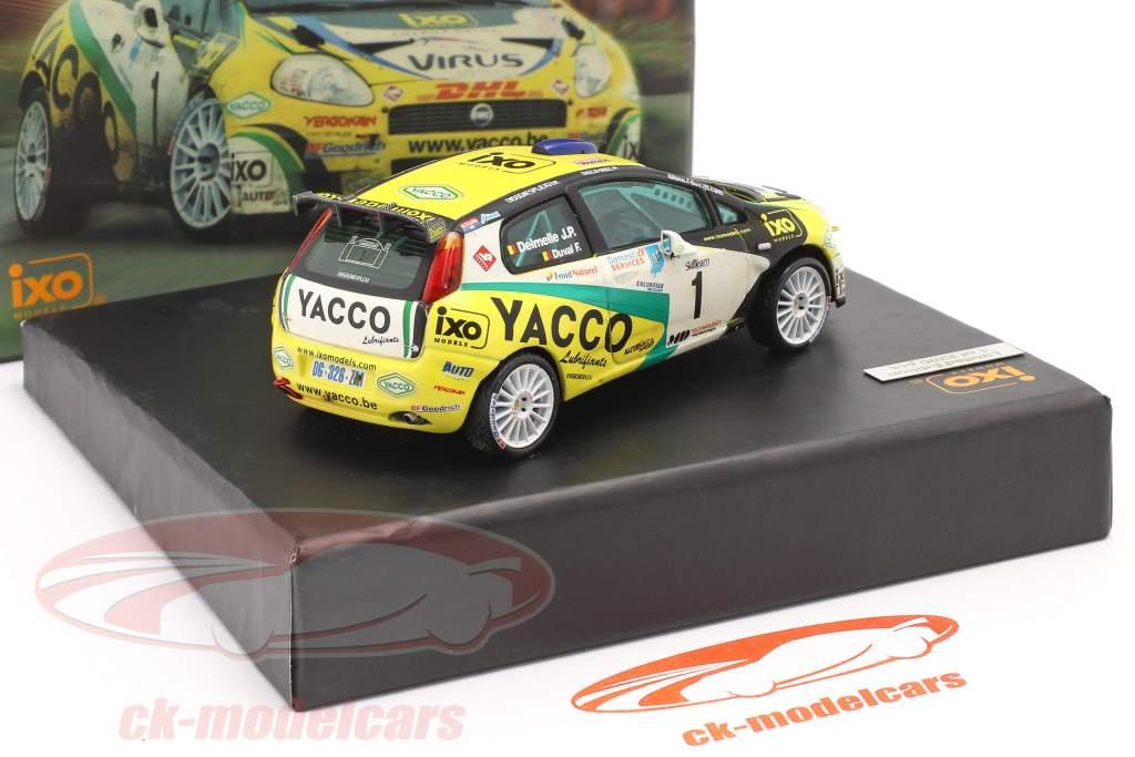 Fiat Punto S2000 #1 vincitore rally Condroz 2007 Duval, Delemelle 1:43 Ixo