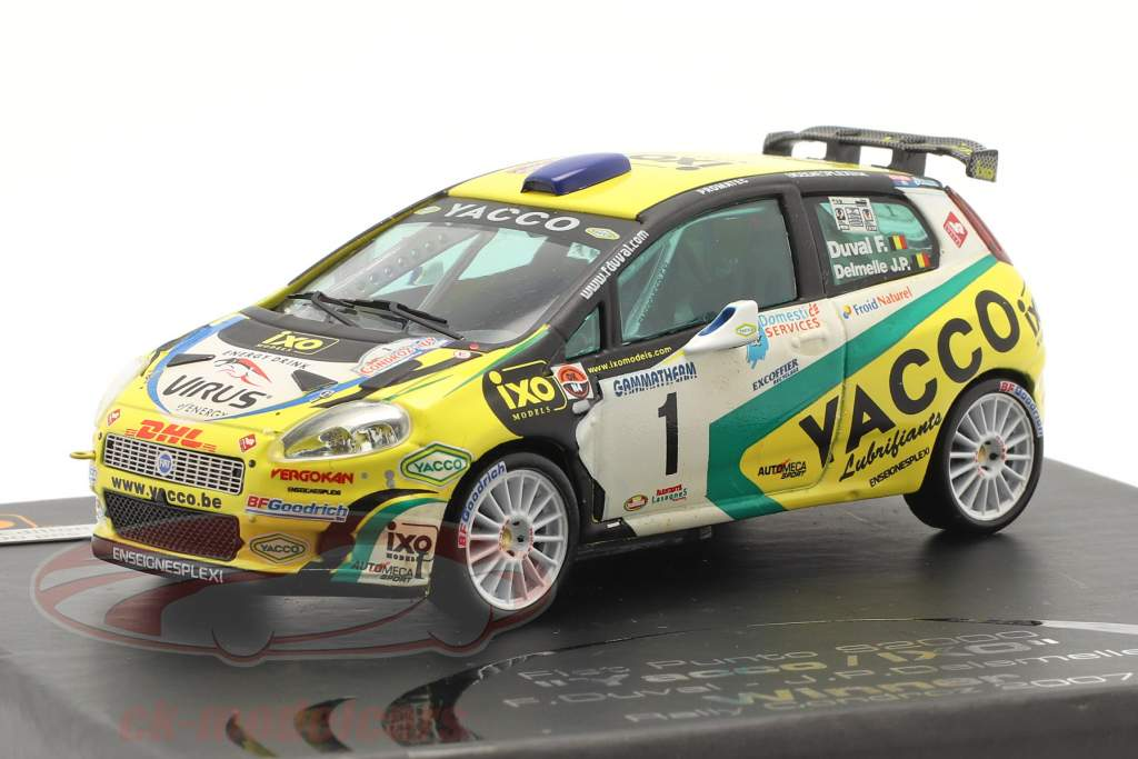 Fiat Punto S2000 #1 Sieger Rallye Condroz 2007 Duval, Delemelle 1:43 Ixo