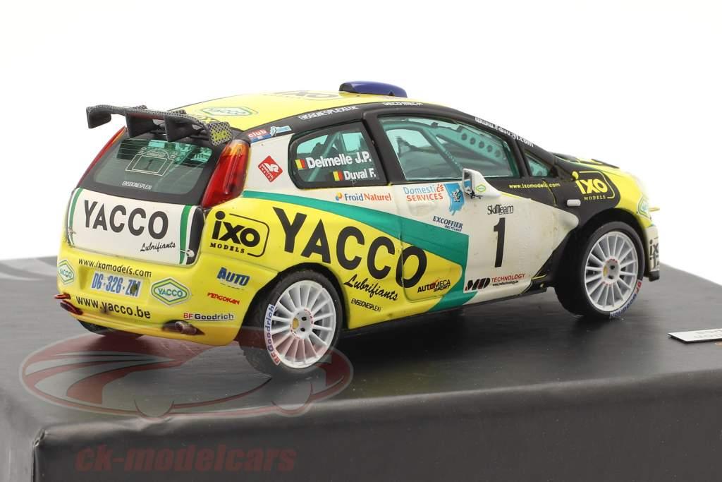 Fiat Punto S2000 #1 winnaar rally Condroz 2007 Duval, Delemelle 1:43 Ixo
