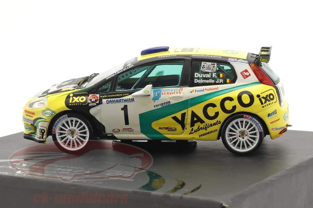 Fiat Punto S2000 #1 ganador reunión Condroz 2007 Duval, Delemelle 1:43 Ixo