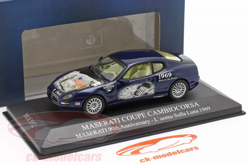 Maserati Coupe Cambiocorsa jaar 2002 blauw 1:43 Ixo