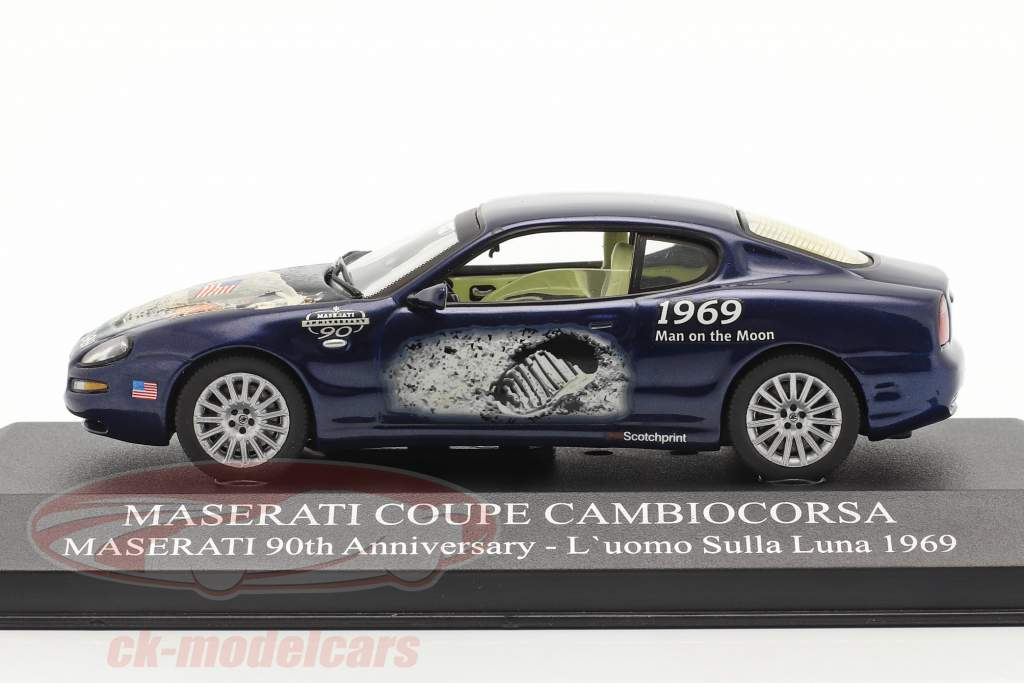 Maserati Coupe Cambiocorsa år 2002 blå 1:43 Ixo