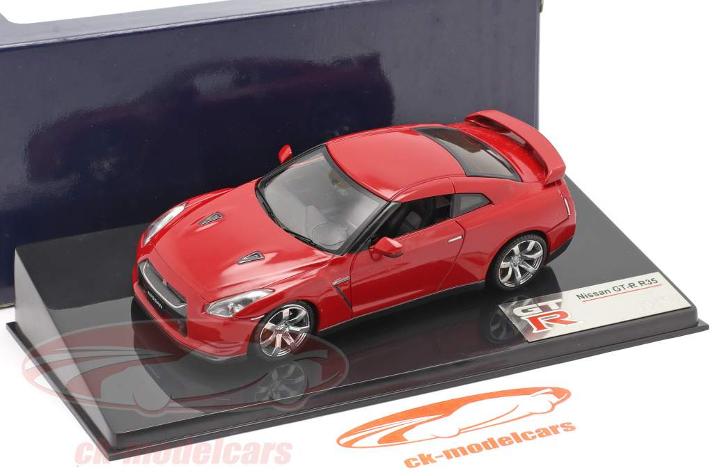 Nissan GT-R R35 jaar 2007 rood 1:43 Fujimi