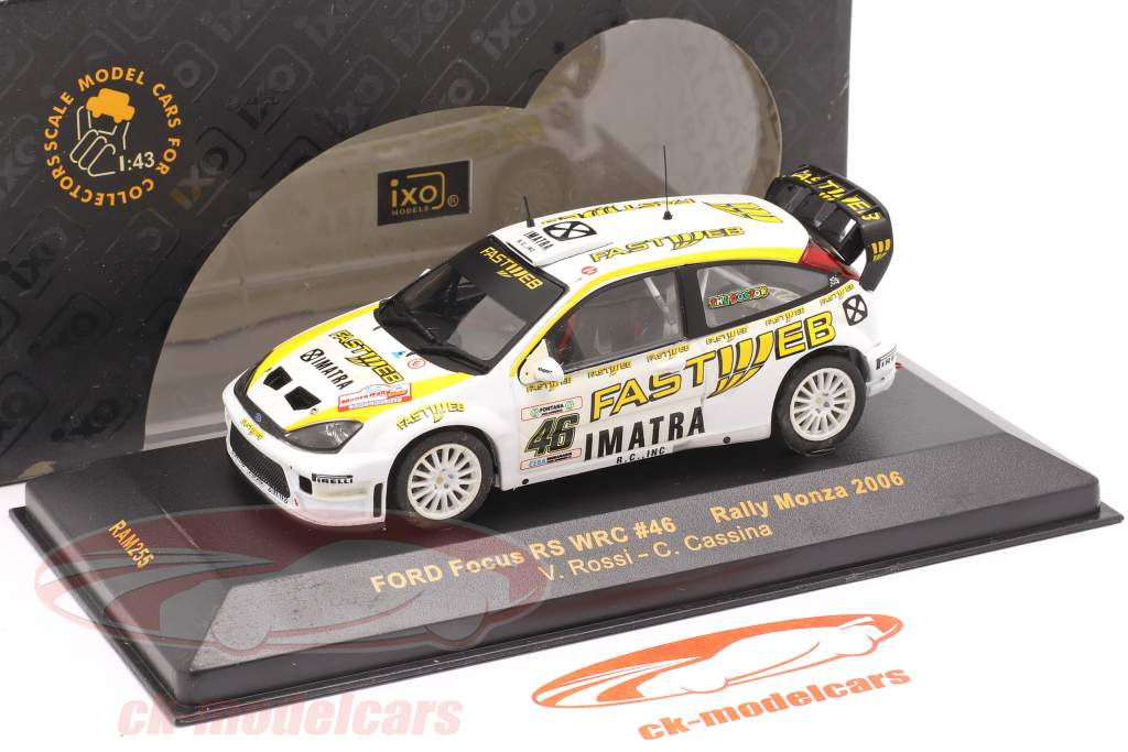 Ford Focus WRC #46 samle Monza 2006 Rossi, Cassina 1:43 Ixo