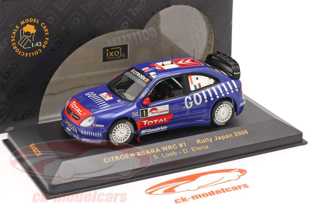 Citroen Xsara WRC #1 samle Japan 2006 Loeb, Elena 1:43 Ixo