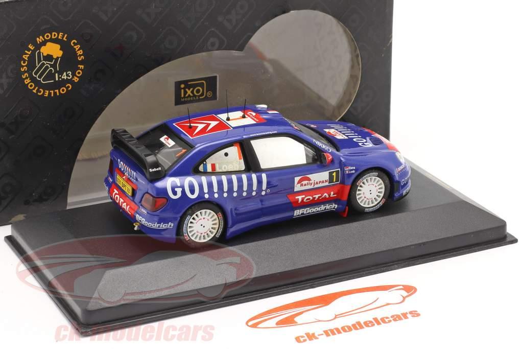 Citroen Xsara WRC #1 se rallier Japan 2006 Loeb, Elena 1:43 Ixo