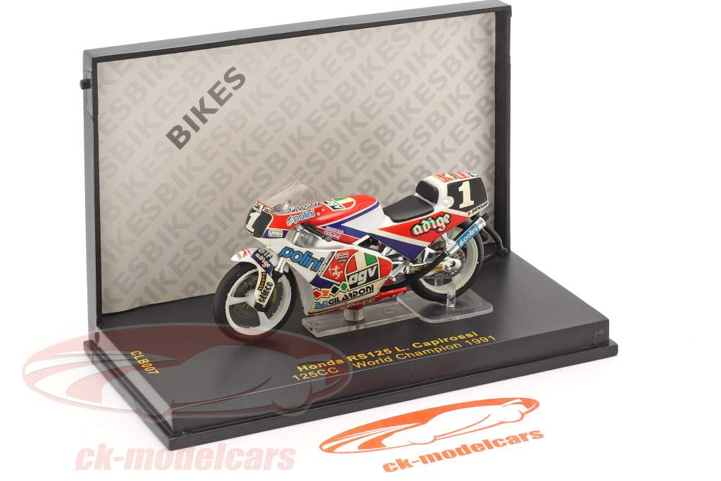 Loris Capirossi Honda RS125 #1 Verden champion 125cc 1991 1:24 Ixo