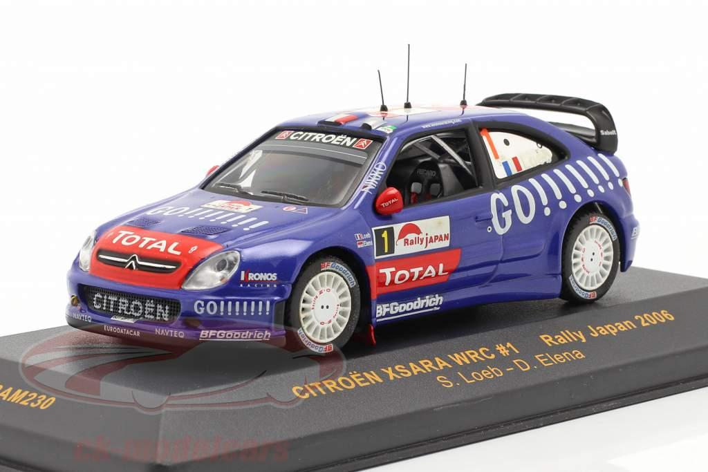 Citroen Xsara WRC #1 corrida Japan 2006 Loeb, Elena 1:43 Ixo