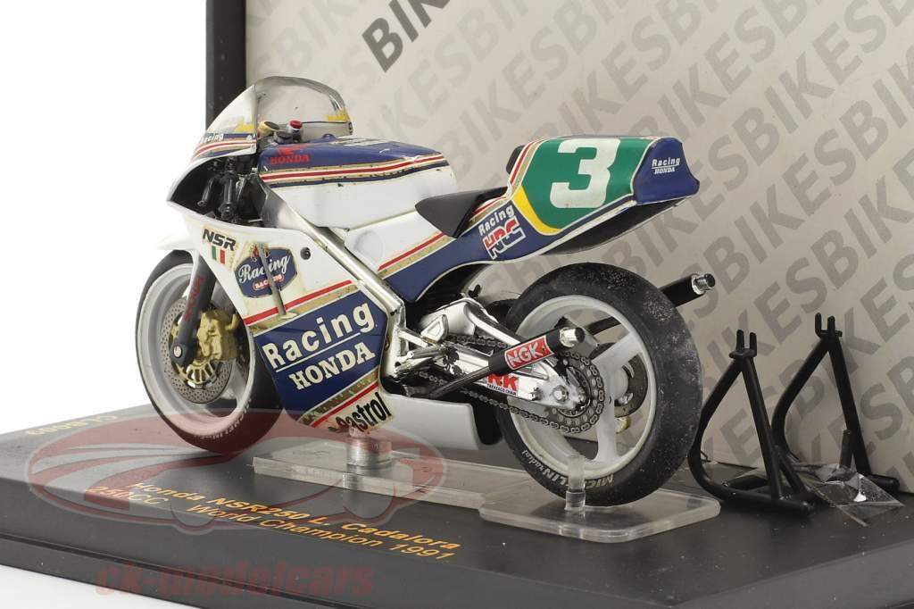 Luca Cadalora Honda NSR250 #3 Verden champion 250cc 1991 1:24 Ixo