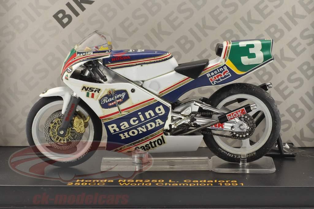 Luca Cadalora Honda NSR250 #3 Monde champion 250cc 1991 1:24 Ixo