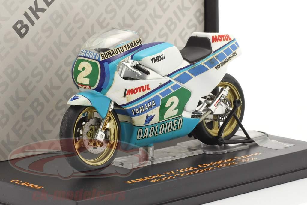 Christian Sarron Yamaha TZ 250L #2 World Champion 250cc 1984 1:24 Ixo