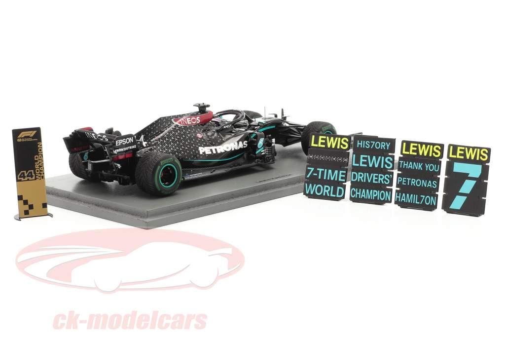 L. Hamilton Mercedes-AMG F1 W11 #44 vencedora turco GP F1 Campeão mundial 2020 1:43 Spark