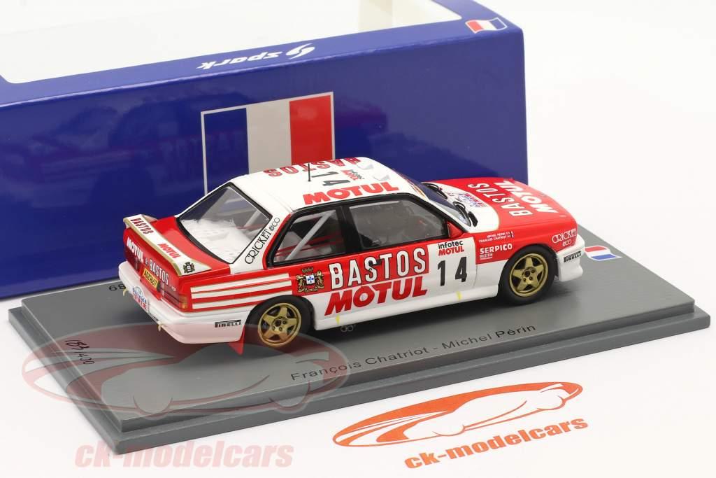 BMW M3 (E30) #14 2 ° Rallye Tour de Corse 1989 Chatriot, Perin 1:43 Spark