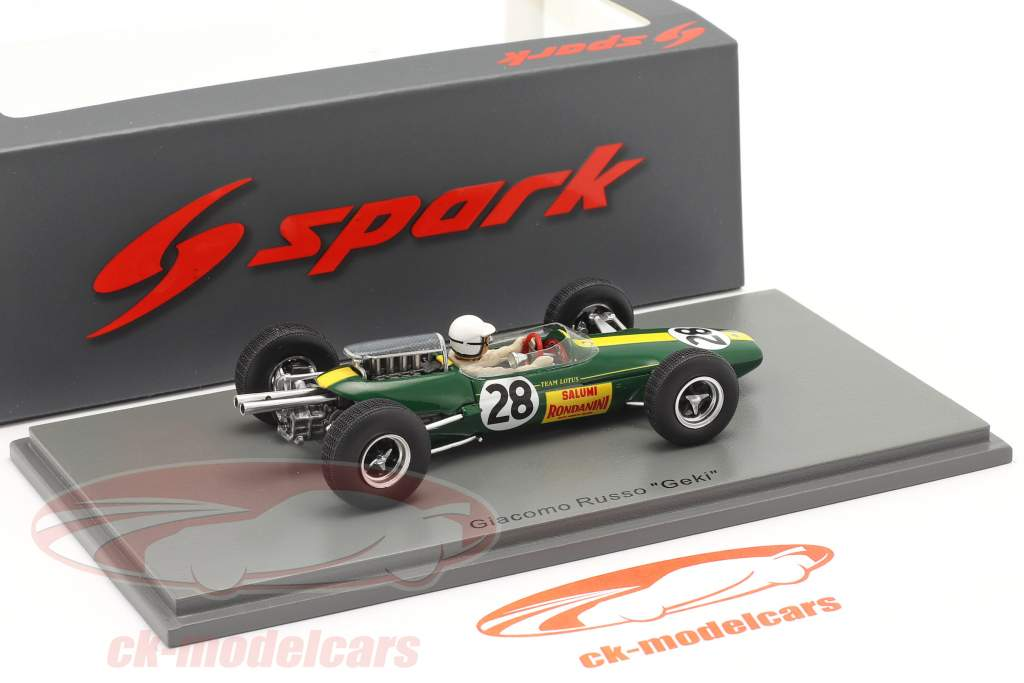 Giacomo Russo Lotus 25 #28 Italien GP Formel 1 1965 1:43 Spark