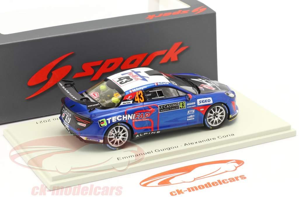 Alpine A110 Rally RGT #43 gagnant RGT Rallye Monte Carlo 2021 1:43 Spark