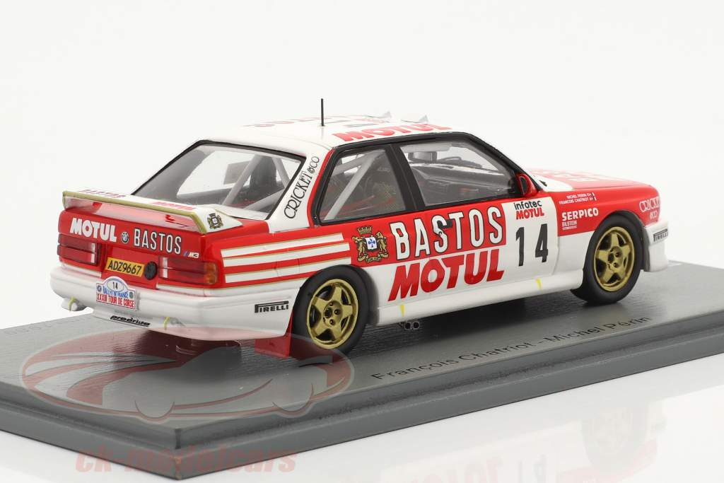 BMW M3 (E30) #14 2. plads Rallye Tour de Corse 1989 Chatriot, Perin 1:43 Spark