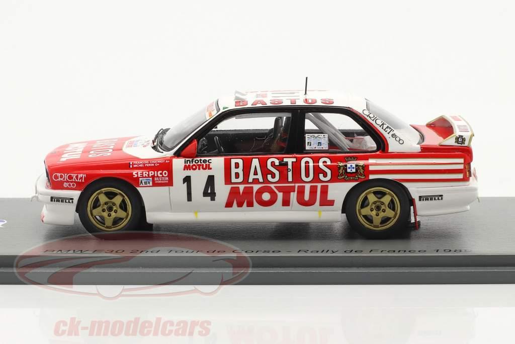 BMW M3 (E30) #14 2e Rallye Tour de Corse 1989 Chatriot, Perin 1:43 Spark