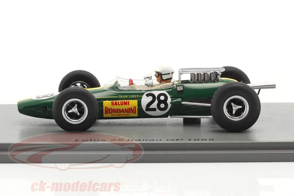 Giacomo Russo Lotus 25 #28 Italiensk GP formel 1 1965 1:43 Spark