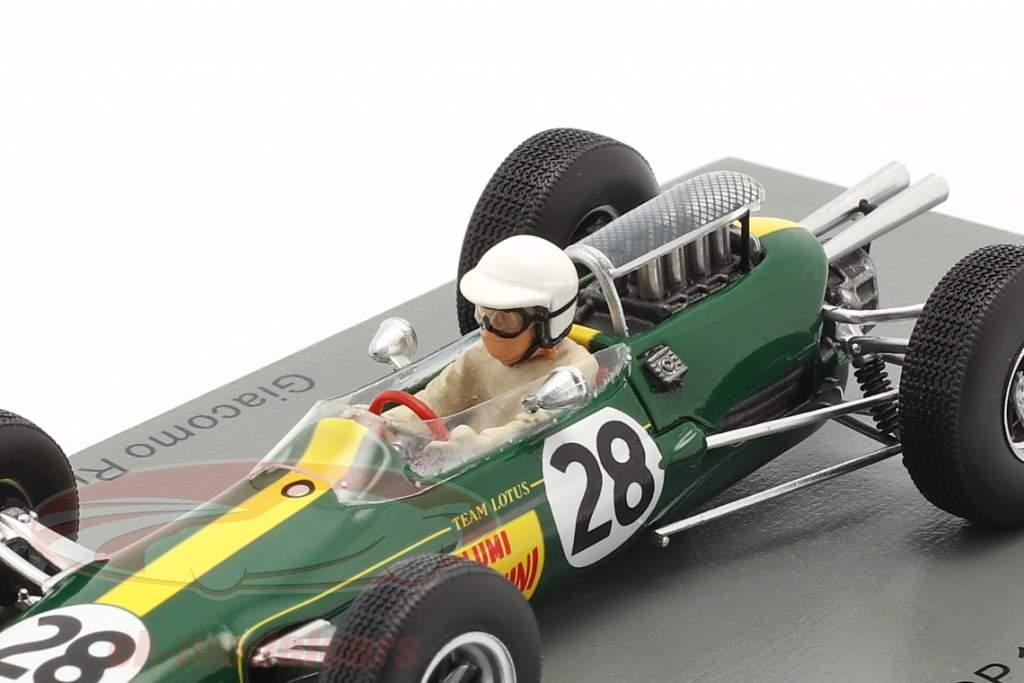 Giacomo Russo Lotus 25 #28 Italiaans GP formule 1 1965 1:43 Spark