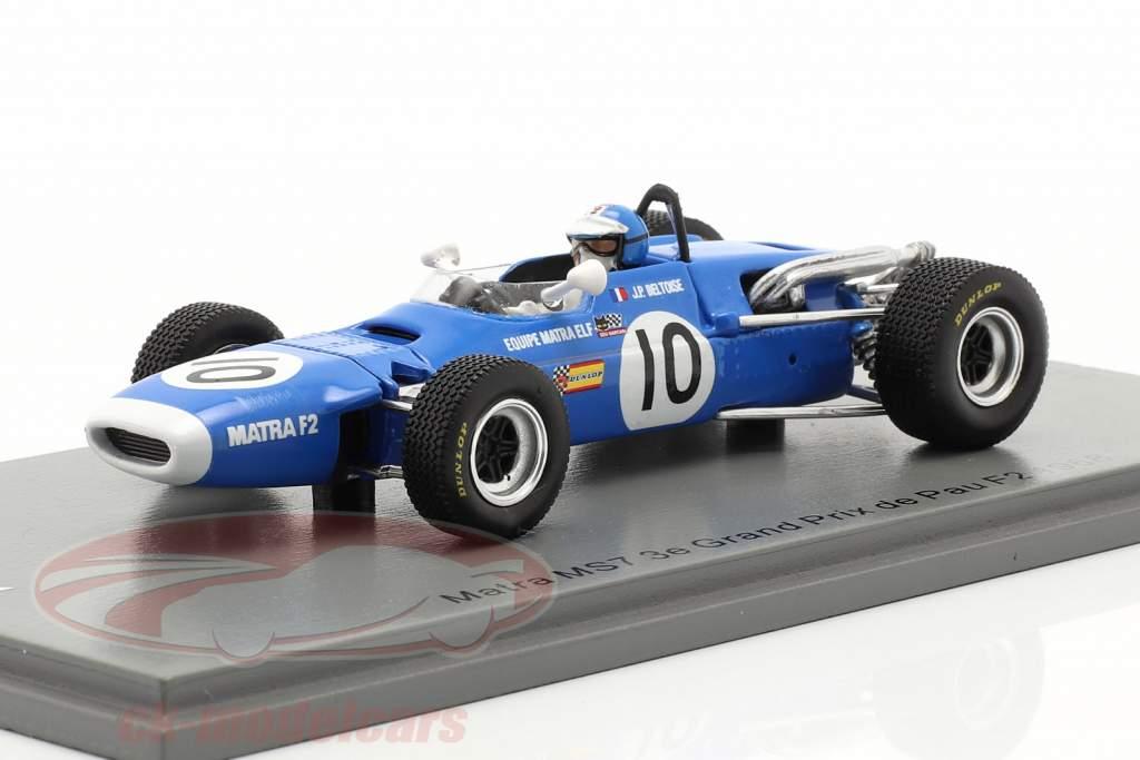 Jean-Pierre Beltoise Matra MS7 #10 3e GP de Pau formule 2 1968 1:43 Spark