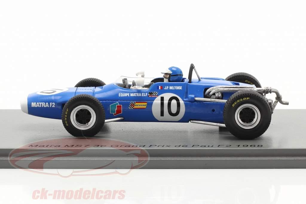 Jean-Pierre Beltoise Matra MS7 #10 3 ° GP de Pau formula 2 1968 1:43 Spark