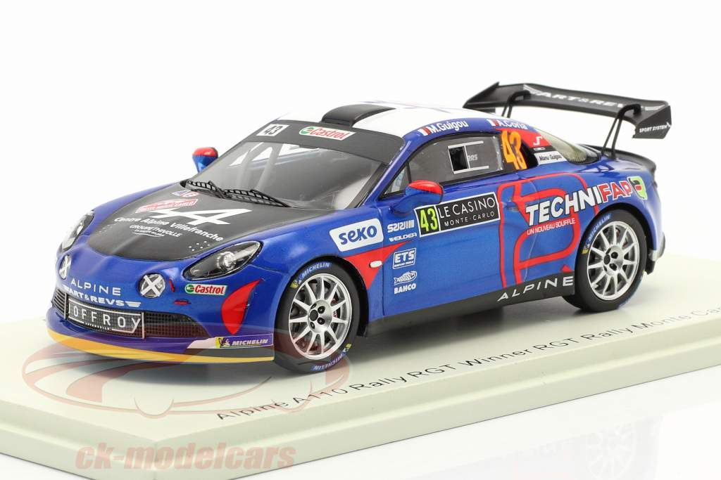 Alpine A110 Rally RGT #43 vinder RGT Rallye Monte Carlo 2021 1:43 Spark