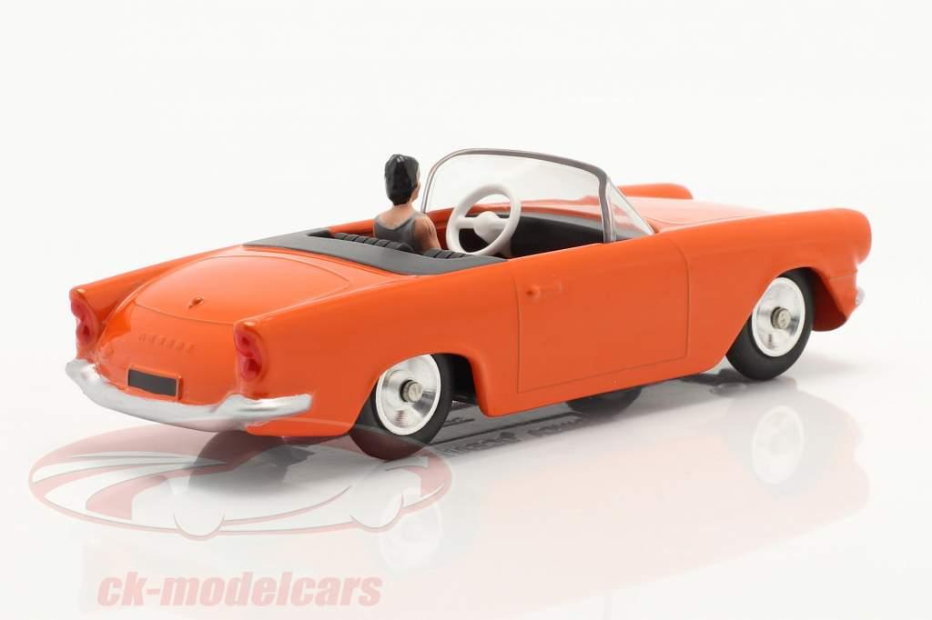 Simca Oceane Convertible Année de construction 1958 Orange 1:43 Solido