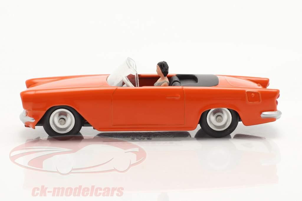 Simca Oceane Converteerbaar Bouwjaar 1958 oranje 1:43 Solido