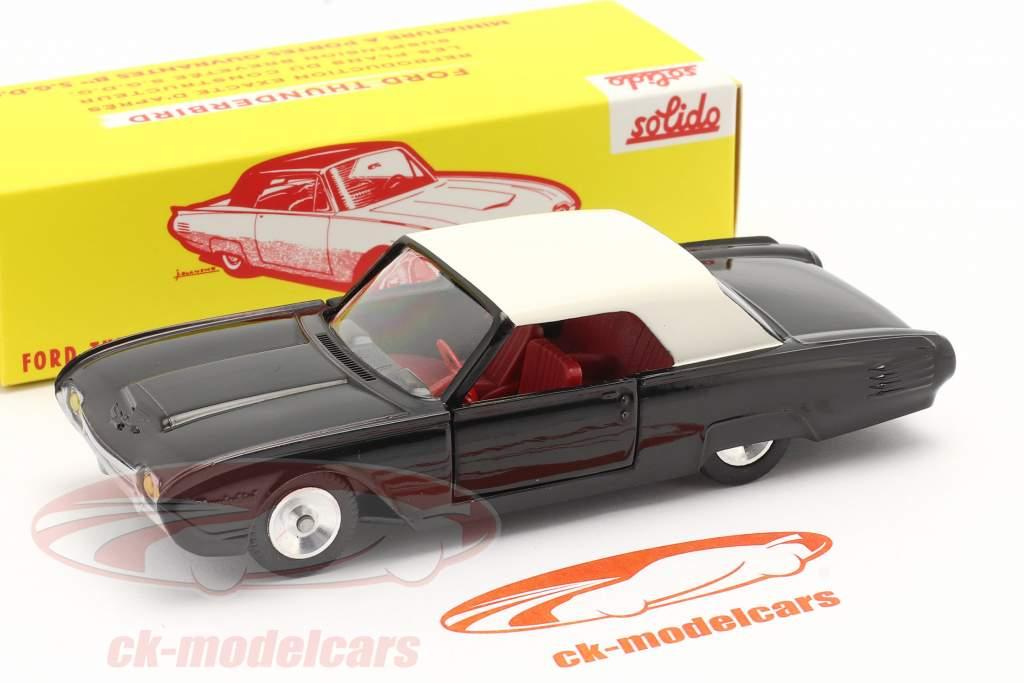 Ford Thunderbird Coupe Baujahr 1962 schwarz / weiß 1:43 Solido