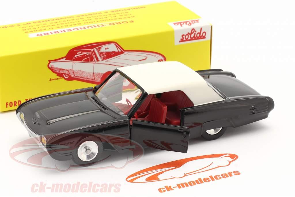 Ford Thunderbird Coupe Année de construction 1962 noir / blanc 1:43 Solido