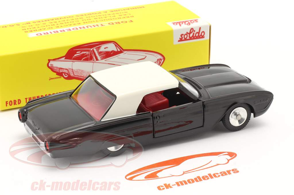 Ford Thunderbird Coupe Anno di costruzione 1962 nero / bianca 1:43 Solido