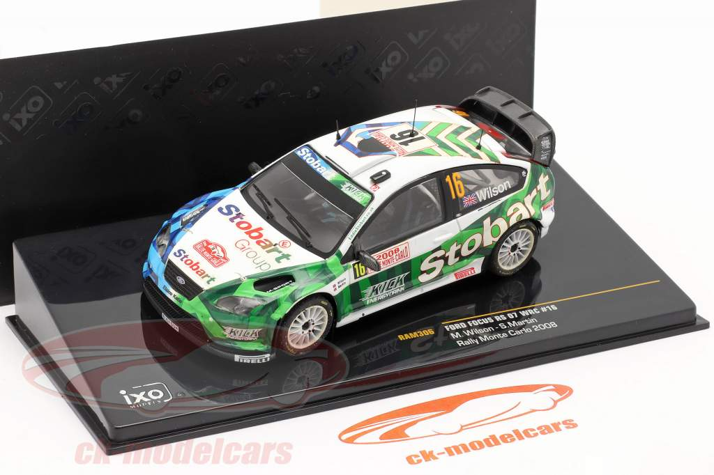 Ford Focus RS 07 WRC #16 rally Monte Carlo 2008 Wilson, Martin 1:43 Ixo